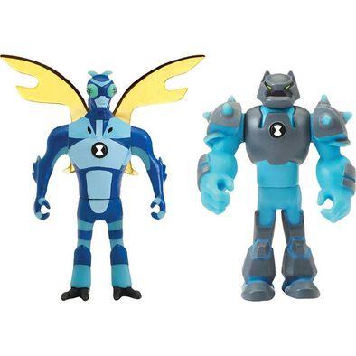 Ben 10 เบนเท็น หุ่นขนาดเล็ก มี 2 แบบใน 1 กล่อง รุ่น สติ้งฟลาย และ ช๊อคร๊อค ลิขสิทธิ์แท้จากการ์ตูนเบนเท็น
