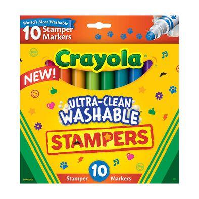 Crayola เครโยล่า สีเมจิกปั๊มลายล้างออกได้10แท่ง