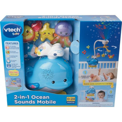 Vtech วีเทค โมบายเสียงดนตรีพร้อมโปรเจคเตอร์ รูปปลาวาฬ