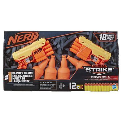 Nerf เนิร์ฟ อัลฟ่า สไตรท์ แฟง คิวเอส 4 ดูอัล 2 กระบอก พร้อมเป้ายิง