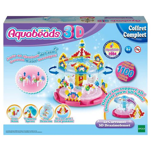 Aquabeads อควาบีดส์ ของเล่นงานประดิษฐ์ลูกปัดสเปรย์น้ำมหัศจรรย์ ชุดม้าหมุน 3มิติ