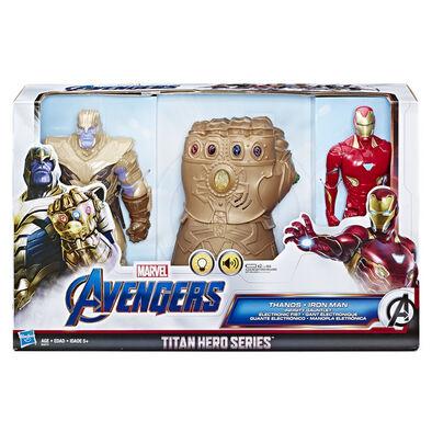 Avenger อเวนเจอร์ ไทตัล ฮีโร่ ฟิกเกอร์ ทานอส และไอรอนแมน และมือทานอส