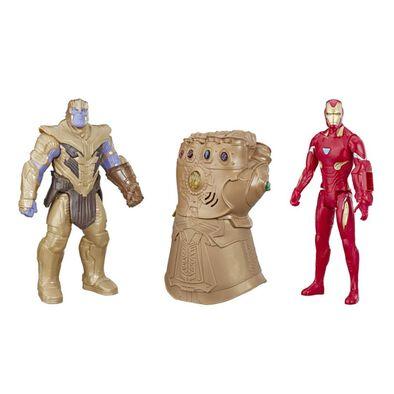 Avenger อเวนเจอร์ ไทตัล ฮีโร่ ฟิกเกอร์ ทานอส และไอรอนแมน พร้อมมือทานอส