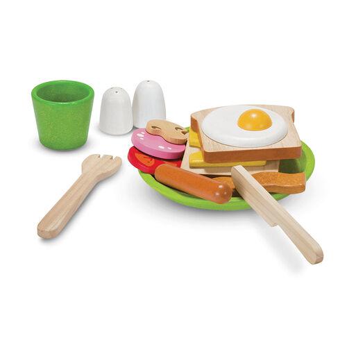 Plantoys แปลนทอยส์ ของเล่นไม้ชุดอาหารเช้า