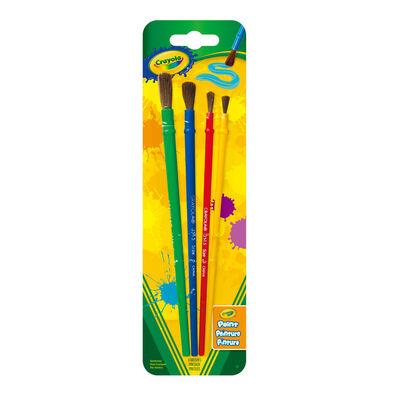 Crayola เครโยล่า ชุดพู่กันแบบกลมสำหรับเด็ก 4ด้าม