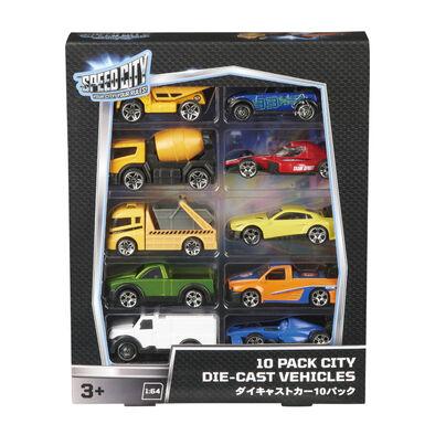 Speed City สปีด ซิตี้ 10 แพค ซิตี้ ไดคาสท์ จำนวน 10 คัน