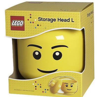 LEGO เลโก้ กล่องเก็บบริครูปหัวมินิฟิกเกอร์ ขนาดใหญ่ รูปหน้าเด็กชาย