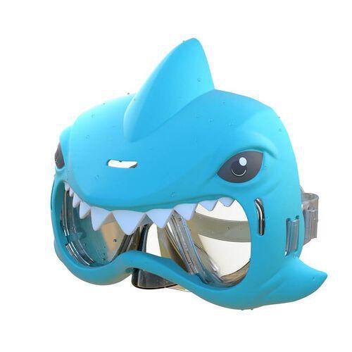 Aqua Creatures ปืนฉีดน้ำและหน้ากากว่ายน้ำรูปฉลาม (สีน้ำเงิน)