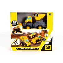 Cat แคทเทอพิลลา มิกซ์ แอนด์ แมทซ์ เซท 3 คัน รถบรรทุก รถไถดิน รถบดถนน