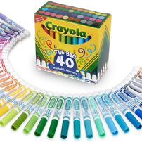 Crayola เครโยล่า สีเมจิกล้างออกได้ หัวใหญ่ 40 แท่ง
