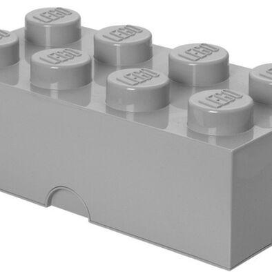 LEGO เลโก้ กล่องเก็บบริค 8 ปุ่ม สีเทา