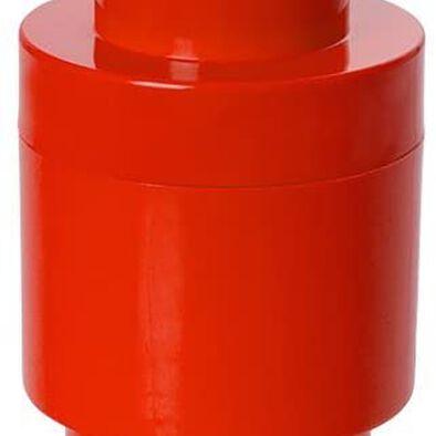 LEGO เลโก้ กล่องเก็บบริคทรงกลม 1 ปุ่ม สีแดง