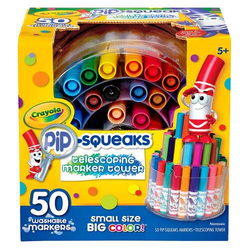 Crayola เครโยล่า สีเมจิกแท่งเล็กล้างออกได้50สี บรรจุพิเศษในชั้นวางแบบยืดหดได้