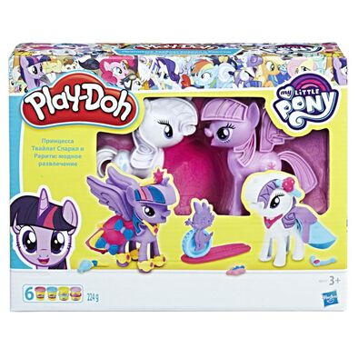 Play-Doh เพลย์โดว์ มายลิตเติ้ล โพนี่ ทไวไลท์ สปาร์คเคิล แอนด์ แรริตี้ แฟชั่น ฟัน