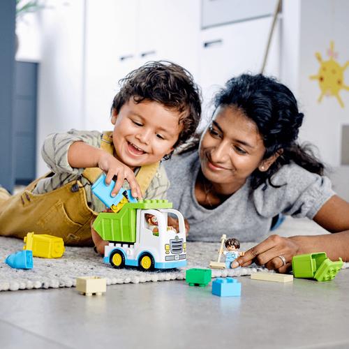 LEGO เลโก้ ดูโปล ชุดตัวต่อรถขยะรีไซเคิล 10945
