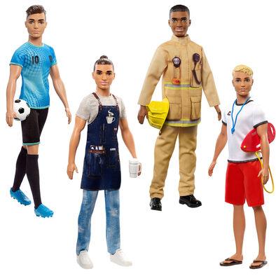 Barbie บาร์บี้ ตุ๊กตาบาร์บี้และเคนในชุดอาชีพต่างๆ (คละแบบ)