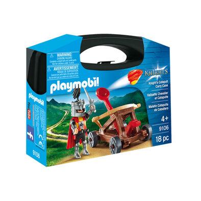 Playmobil เพลย์โมบิล ชุดอัศวินและเครื่องยิงหิน ในกล่องกระเป๋าถือ