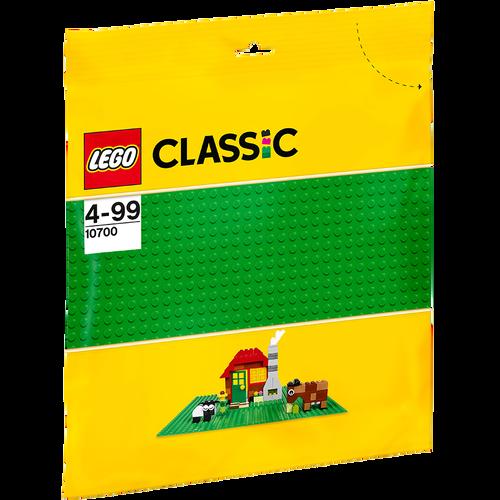 LEGO เลโก้ แผ่นเพลทรองต่อ สีเขียว 10700