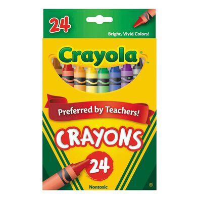 Crayola เครโยล่า สีเทียนไร้สารพิษ 24 แท่ง