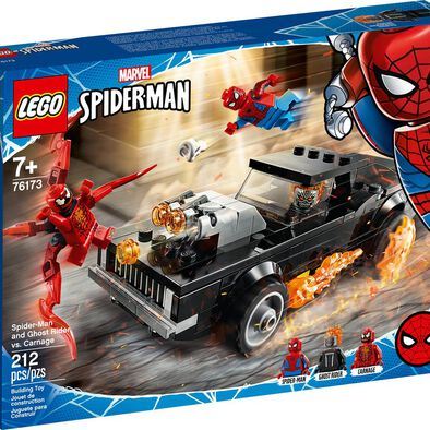 LEGO เลโก้ สไปเดอร์เมน  แอดน์ โกสไรเดอร์ เวอซัย คาร์เนจ 76173