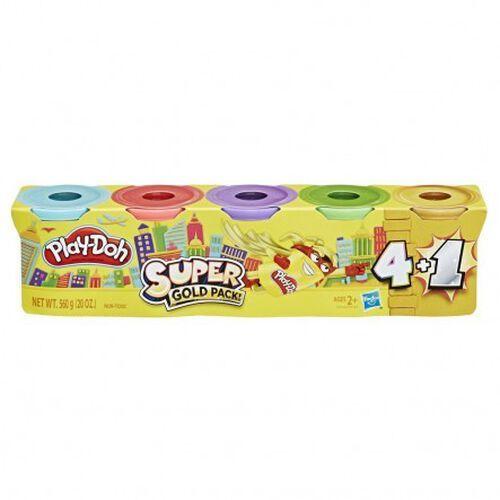 Play-Doh เพลย์โดว์ ซิลเวอร์ โกลด์ 5 แพ็ค - คละแบบ
