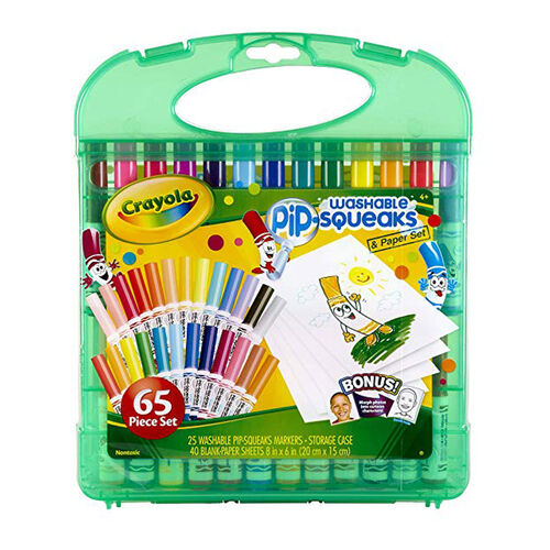 Crayola เครโยล่า ชุดสีเมจิกล้างออกได้แท่งเล็กในกล่องพลาสติกแบบพกพา
