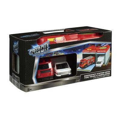 Speed City สปีด ซิตี้ สถานีฉุกเฉิน (รถดับเพลิงและรถฉุกเฉิน)