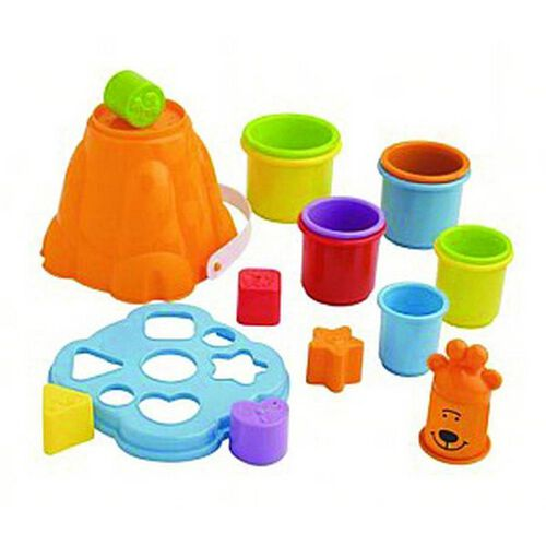 BRU บรู ชุดของเล่นถ้วยและบล็อคหยอดรูปทรง