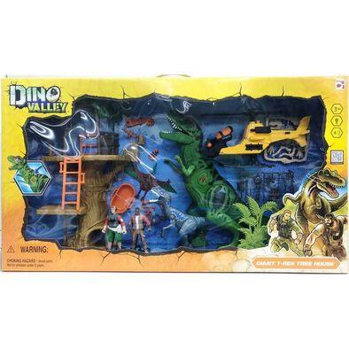 Dino Valley ไดโนวัลเลย์ ชุดไจแอนท์ทีเร็กซ์ กับบ้านต้นไม้