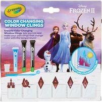 Crayola เครโยล่า ชุดทำแผ่นติดกระจกลายโฟรเซ่น 2 เปลี่ยนสีได้