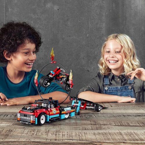 LEGO เลโก้ สตั๊นท์ โชว์ ทรัค แอนด์ ไบค์ 42106