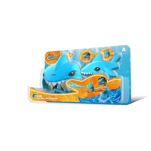 ชุดปืนฉีดน้ำและหน้ากากว่ายน้ำลายฉลาม (สีน้ำเงิน)