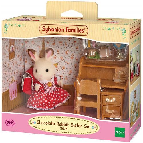 Sylvanian Family ซิลวาเนียน แฟมิลี่ ชุดเด็กญิงชอคโกแตลแรบบิท (โต๊ะเรียน)