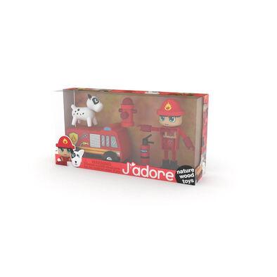 J'adore ฌาดอร์ ของเล่นไม้ ชุดฟิกเกอร์ธีมนักดับเพลิง