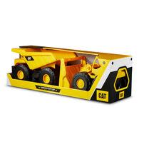 Caterpillar แคตตาพิลล่า รถก่อสร้างของเล่น ขนาด 10 นิ้ว แพ็ค 2 ชิ้น