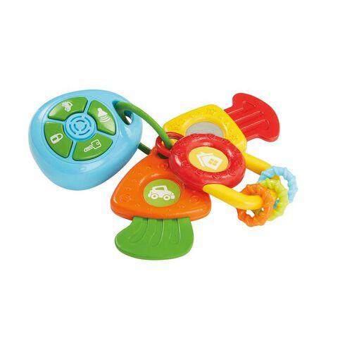 BRU Infant & Preschool บรู ชุดของเล่นยางกัด รูปพวงกุญแจแบบมีเสียงเพลง