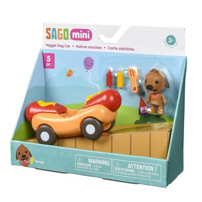 Sago Mini ซาโก มินิ ชุดของเล่นรถรูปทรงไส้กรอก
