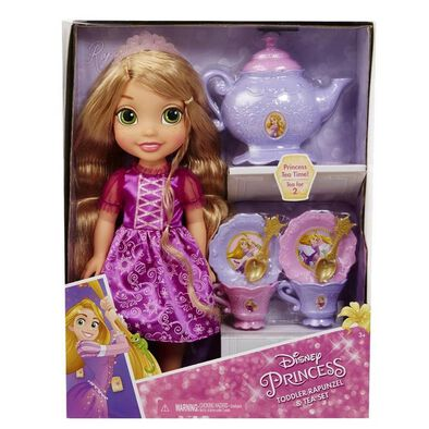Disney Princess ดิสนีย์ ตุ๊กตาเจ้าหญิงตัวน้อยและชุดน้ำชาสำหรับ 2 ที่ (คละแบบ)