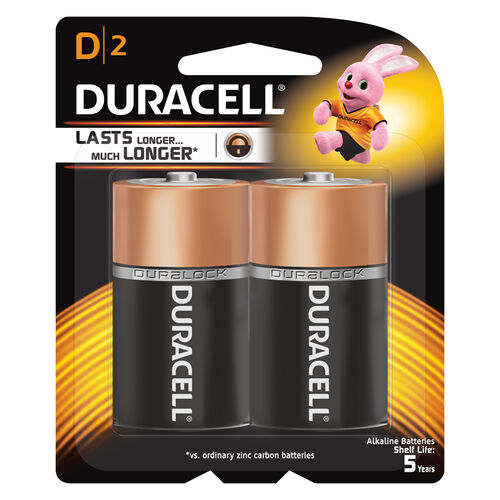 Duracell ดูราเซลล์ แบตเตอรี่ขนาด D แพ็ค 2 ก้อน