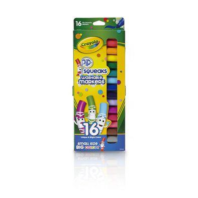 Crayola เครโยล่า สีเมจิก 16แท่งเล็ก ล้างออกได้ ไร้สารพิษ