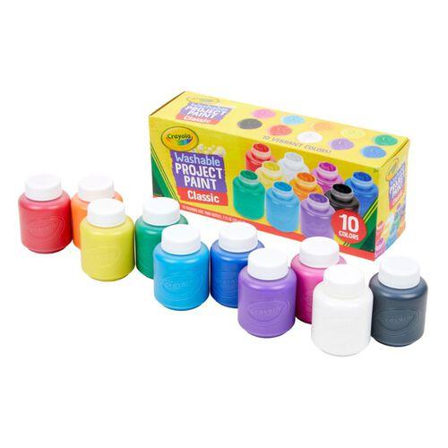 Crayola เครโยล่า สีน้ำ10สีในขวดพร้อมใช้ ล้างออกได้ ไร้สารพิษ