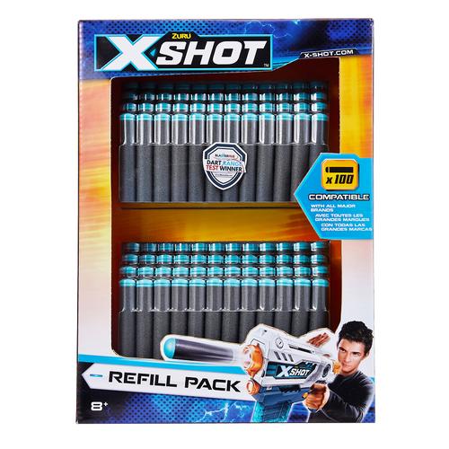 X-Shot เอ็กซ์ช็อต แพ็คกระสุนรีฟิล 100 นัด คละแบบ