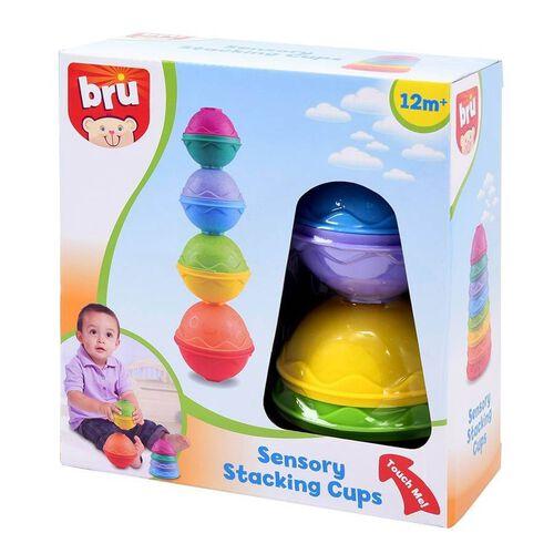 BRU Infant & Preschool บรู เซ็นซอรี่ สแต็กกิ้ง คัพ