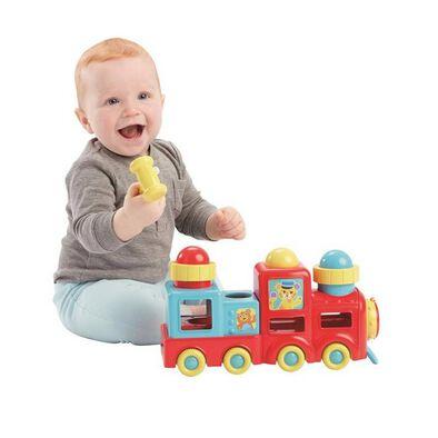 BRU Infant & Preschool บรู ชุดรถไฟ พาวน์ดิง บอล เทรน