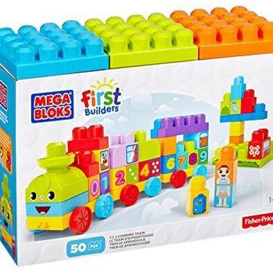 Mega Bloks เมก้า บล็อค ชุดตัวต่อรถไฟเรียนรู้เรื่องการนับเลข