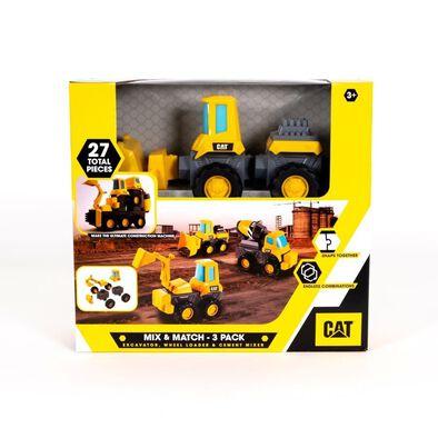 Cat แคทเทอพิลลา มิกซ์ แอนด์ แมทซ์ 3 คัน รถขุด รถตักดิน รถผสมปูน