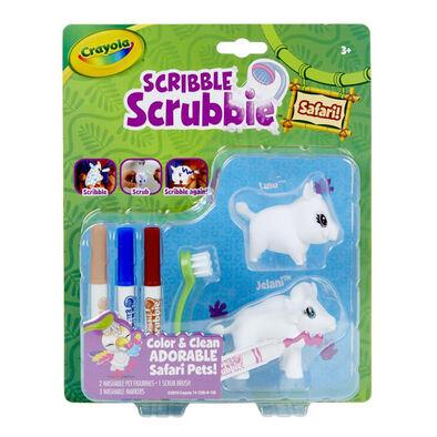 Crayola เครโยล่า สคริบเบิ้ล สครับบี้ ชุดระบายสีและอาบน้ำสัตว์ป่า หมูป่าและควาย