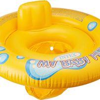 แพยางเด็กว่ายน้ำลอยที่นั่ง