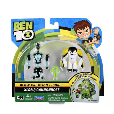Ben 10 เบนเท็น หุ่นขนาดเล็ก มี 2 แบบใน 1 กล่อง รุ่น XLR8 และ แคนนอนโบลค์ ลิขสิทธิ์แท้จากการ์ตูนเบนเท็น