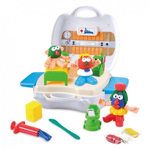 Playgo เพลย์โก ชุดของเล่นแป้งโดกระเป๋าหิ้ว เซ็ตคลีนิคคุณหมอ
